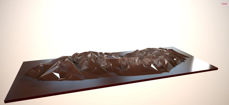 La chaîne des Alpes en chocolat